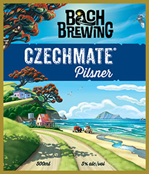 Bach Brewing Czechmate Label